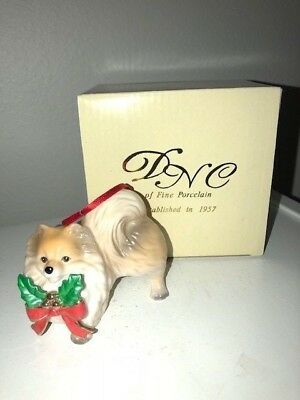 Pomeranian Dog Fine Porcelain Christmas Ornament DNC New In Box