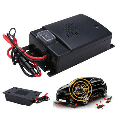 Car 12V Ultrasonic Pest Mouse Rat Repeller Cat Rodent Bug Deterrent Mole Auto