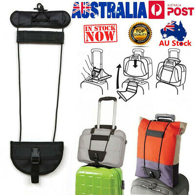 A Bag Strap Luggage Bungee Travel Suitcase Adjustable Tape Belt Tie Carry On