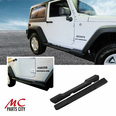 For 07-17 Jeep wrangler JK 2D Factory Style ABS Running Board Side Step Nerf Bar