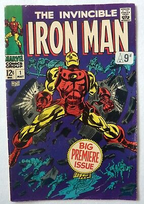 Iron Man 1 Silver Age FN+ Condition 1968