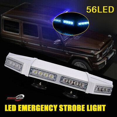 Blue 56LED Law Enforcement Emergency Roof Top Strobe Light Fit Truck 4wd Jeep
