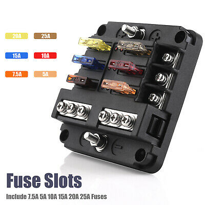 ATTENTION! 8 WAY Terminals Circuit ATC ATO Car Auto Blade Fuse Box on automotive gauges, car battery holders, automotive clamps, automotive indicator lights, marine battery holders, automotive switch panels, cable reel holders, automotive spring holders, plastic battery holders, automotive cooling fans,