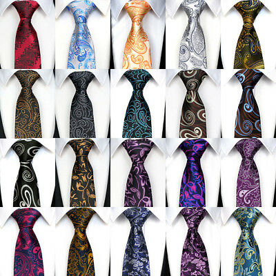 Fashion Classic 8CM mens tie Man Silk ties Winter Floral Jacquard Necktie 57""