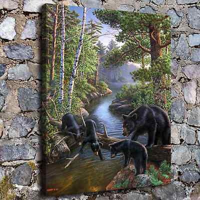 """Bear Pause Animal HD Canvas Print 24""""x30"""" Home Decor Paintings Wall Art Pictures"""