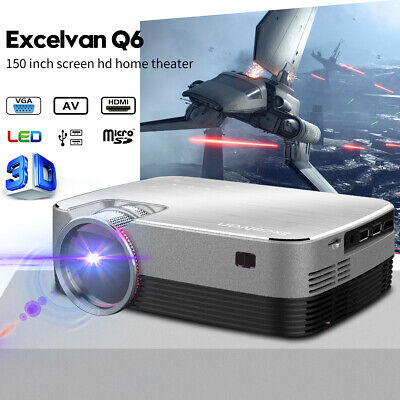 2018 New FLOUREON 3000 Lumen 1080P 3D Home LED Projector Multimedia Home Theater