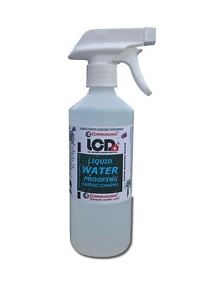 Water proofing spray on liquid  for fabric / canvas 1 Lt outdoor clothing boots
