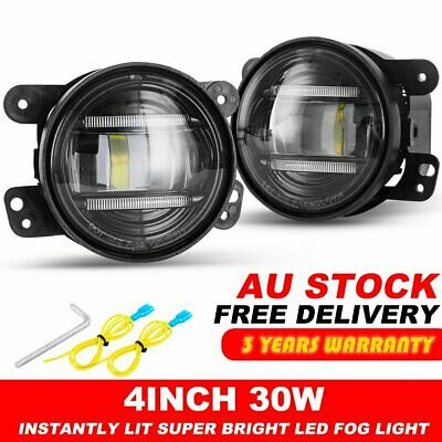 "Pair 4"" Led Fog Driving Lights Offroad Truck Lamp for Jeep Wrangler ARB Bullbar"