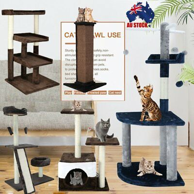 Multi Level Cat Tree Tower Scratching Post Scratcher Pole Gym Toy House Use