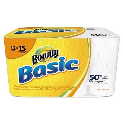 Bounty Basic Paper Towels, 1-Ply (55 sheets per roll, 12 rolls per pack), new br