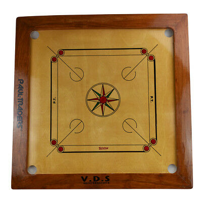"""Carrom Board Game Set 35"""" x 35"""" - Made in India - Great for Family Fun"""