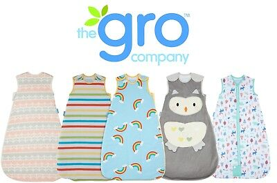 Grobag Baby Sleeping Bag Sale Toddler Boy Girl Designs 100% Cotton All Tog Sleep