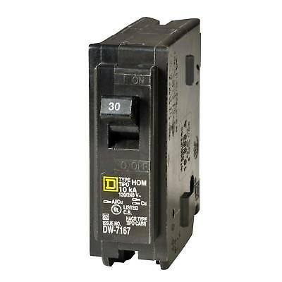 Square D Homeline 30 Amp Single Pole Circuit Breaker