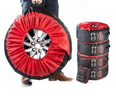 """5x Tyre storage carry bags protective cover 14''-18"""" spare wheel strong material"""