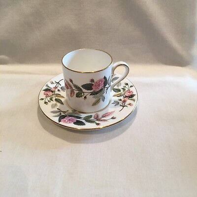 Wedgwood Hathaway Rose small coffee can & saucer