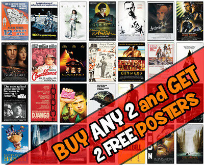 *B19* 2018 New Movie Cinema Film Wall A3 A4 Poster Options Print Buy2 Get 2Free
