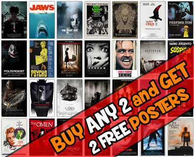 *B26* Horror Movie Batch 2 Film Wall A3 A4 Poster Options Print Buy4 Get 2Free