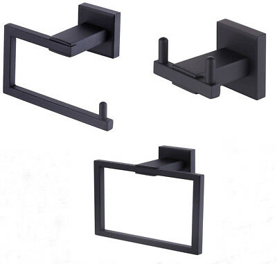 Bathroom Accessory Tissue Holder/Double Hook/Towel Ring SUS Black,Chrome,Brushed