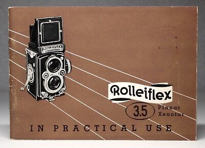 Rolleiflex Planar Xenotar 3.5 In Practical Use Pamphlet 1950's