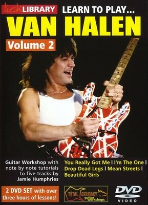 Lick Library LEARN TO PLAY Eddie VAN HALEN Mean Streets Guitar Lesson Video DVD