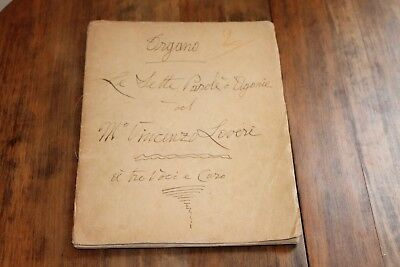 Original Vincenzo Loveri,Naples 19th century Organ composition,S.Brigida.Passion