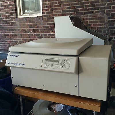 Eppendorf 5810R Centrifuge 120V with A-4-62 rotor refurbished with 1 yr warranty