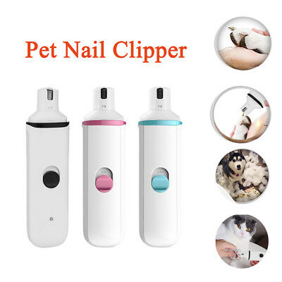 Pet Dog Cat Nail Clipper Trimmer Grooming Tool Care Grinder Electric Clipper Kit