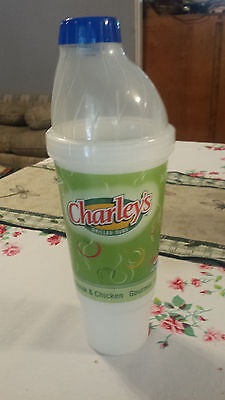 NEW PEPSI Twist 'n Go Plastic Travel Cup Mug Charley's 32 oz