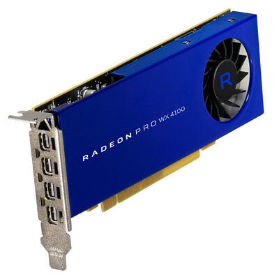 AMD Radeon Pro WX 4100, 4096 MB GDDR5, 4x mini DP - Low Profile
