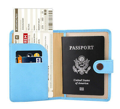 Case Organizer Cover Protector RFID Blocking Passport Holder Wallet Travel US2