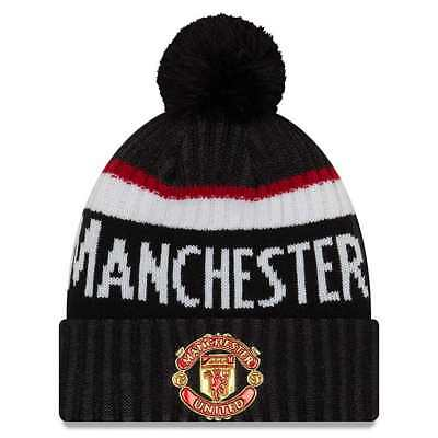 f45a78966f00 BONNET PL MANCHESTER United Fa18 Reversible Marl Knit New Era Gris ...