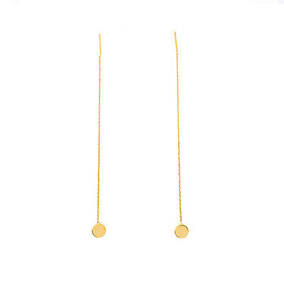 Fashion Women Gold Silver Long Chain Ear Threader Drop Dangle Earrings Jewelry