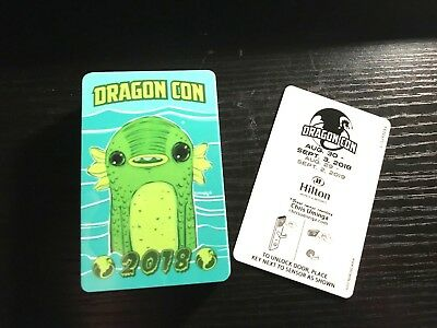 "Dragon Con 2018 Hilton Room Key ""Creature"" by Chris Uminga (UNUSED)"