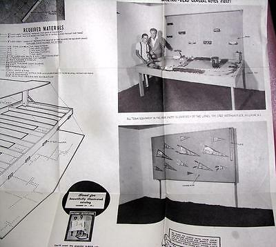 Vtg U-Bild 1950S Complete Diy Woodworking Pattern, Model Train & Slot Car Table