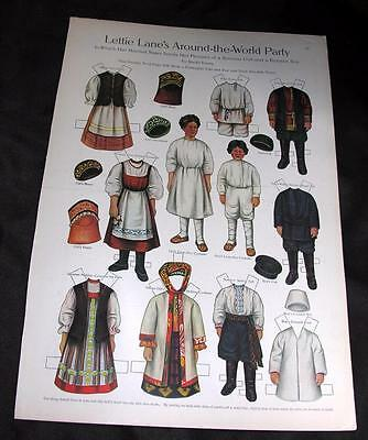 Vtg 1910 Lettie Lanes Around World Party Russian Paper Dolls Ladies Home Journal