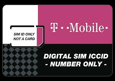 T-MOBILE SIM ICCID - Activate a New Phone Number or port-in/port-out any  carrier