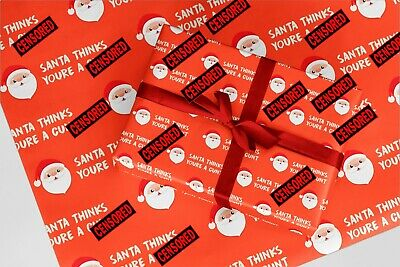 Really Rude NAUGHTY Christmas Wrapping Paper 12   FUNNY   XMAS   ADULT   HUMOUR
