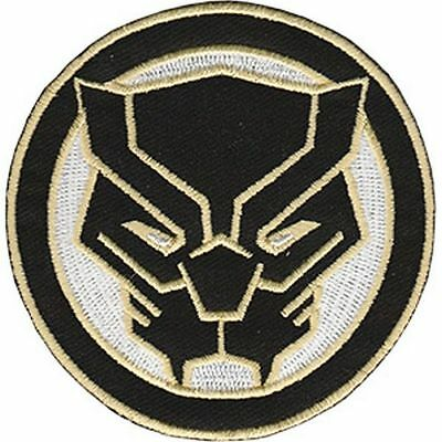 Black Panther - Classic Logo - Embroidered Patch - Brand New - Marvel 0077