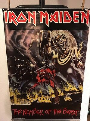 iron maiden number of the beast original poster 1982 40 00 picclick