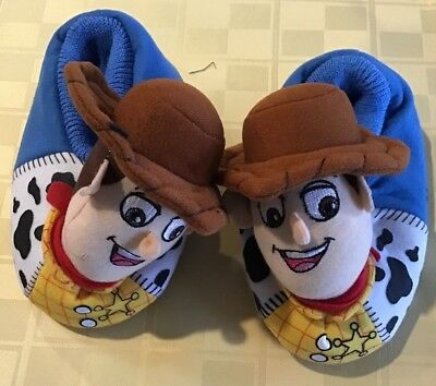 Disney Pixar Boys Toddler Toy Story WOODY SLIPPERS 9 10 Sheriff ANDY New no Tags
