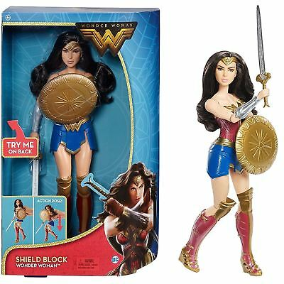 DC Comics FDF39 Wonder Woman Shield Deluxe Doll Toy Super Heroes
