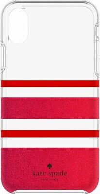 Kate Spade New York Hard Case for Apple iPhone X - Glitter Red/Red - Very Good