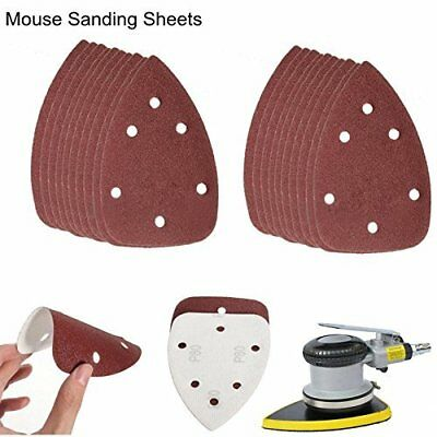 60-240 Grit Mouse Sanding Sheets Black & Decker Mouse Palm Sander Sandpaper 40pc