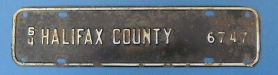 1964 Halifax County Virginia license plate attachment or topper