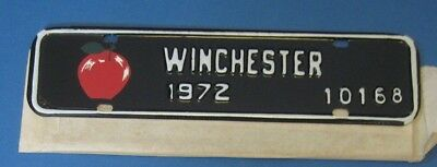 1972 Winchester Virginia License plate with Red Apple never used