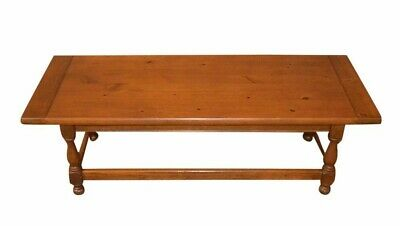 Vintage Ethan Allen Antique Pine Large Farmhouse Style Coffee Table