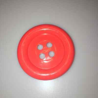 Red Extra Large Clown Buttons Size 100 - 63mm