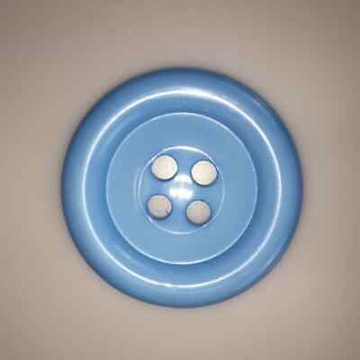 Blue Very Large Clown Buttons Size 80L - 51mm