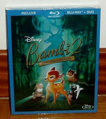 Bambi 2 The Prince Of The Forest Blu Ray+Dvd Disney New Slipcover (Unopened) R2