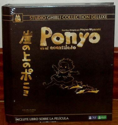 Ponyo In Cliff Collection Luxury Digibook Blu-Ray+Dvd New Sealed